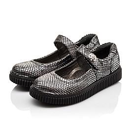 Детские туфли Woopy Orthopedic серебряные для девочек натуральная кожа размер - (3071) Фото 3