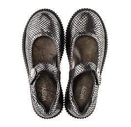 Детские туфли Woopy Orthopedic серебряные для девочек натуральная кожа размер - (3071) Фото 5