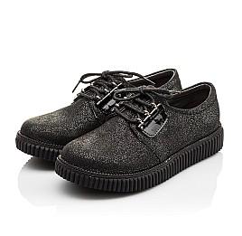 Детские туфли (шнурок резинка) Woopy Orthopedic черные для девочек натуральный нубук размер - (3072) Фото 2