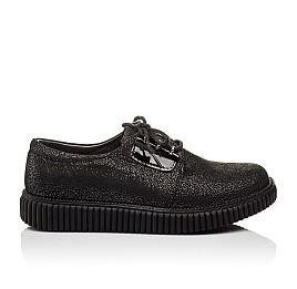 Детские туфли (шнурок резинка) Woopy Orthopedic черные для девочек натуральный нубук размер - (3072) Фото 3