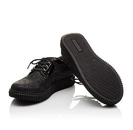 Детские туфли (шнурок резинка) Woopy Orthopedic черные для девочек натуральный нубук размер - (3072) Фото 5
