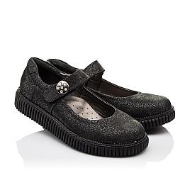 Детские туфли Woopy Orthopedic черные для девочек натуральный нубук размер - (3073) Фото 1