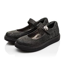 Детские туфли Woopy Orthopedic черные для девочек натуральный нубук размер - (3073) Фото 3