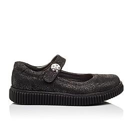Детские туфли Woopy Orthopedic черные для девочек натуральный нубук размер - (3073) Фото 4