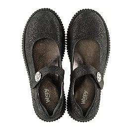 Детские туфли Woopy Orthopedic черные для девочек натуральный нубук размер - (3073) Фото 5