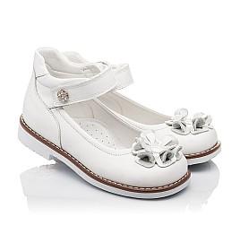 Детские туфли ортопедические Woopy Orthopedic белые для девочек натуральная кожа размер - (3074) Фото 1