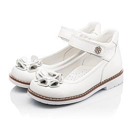 Детские туфли ортопедические Woopy Orthopedic белые для девочек натуральная кожа размер - (3074) Фото 3