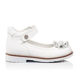 Детские туфли ортопедические Woopy Orthopedic белые для девочек натуральная кожа размер - (3074) Фото 4