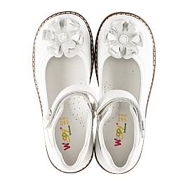 Детские туфли ортопедические Woopy Orthopedic белые для девочек натуральная кожа размер - (3074) Фото 5