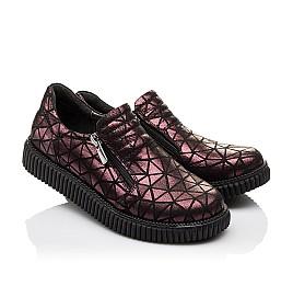 Детские туфли Woopy Orthopedic белые, бордовые для девочек натуральный нубук размер - (3075) Фото 1