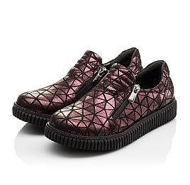 Детские туфли Woopy Orthopedic белые, бордовые для девочек натуральный нубук размер - (3075) Фото 2