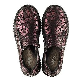 Детские туфли Woopy Orthopedic белые, бордовые для девочек натуральный нубук размер - (3075) Фото 4