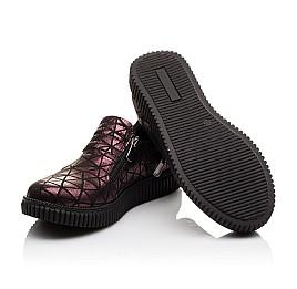 Детские туфли Woopy Orthopedic белые, бордовые для девочек натуральный нубук размер - (3075) Фото 5