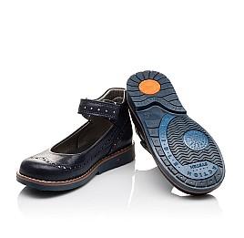 Детские туфли ортопедические Woopy Orthopedic темно-синие для девочек натуральная кожа размер - (3077) Фото 2