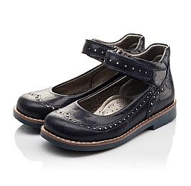 Детские туфли ортопедические Woopy Orthopedic темно-синие для девочек натуральная кожа размер - (3077) Фото 3