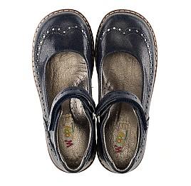 Детские туфли ортопедические Woopy Orthopedic темно-синие для девочек натуральная кожа размер - (3077) Фото 5