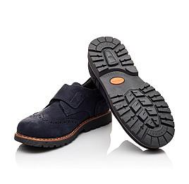 Детские туфли Woopy Orthopedic темно-синие для мальчиков натуральный нубук размер - (3078) Фото 2