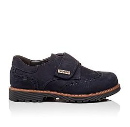 Детские туфли Woopy Orthopedic темно-синие для мальчиков натуральный нубук размер - (3078) Фото 4