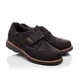 Детские туфли Woopy Orthopedic черные для мальчиков натуральный нубук размер - (3079) Фото 1