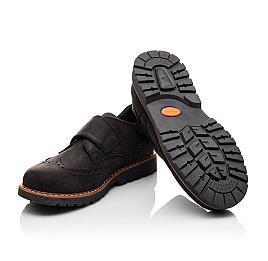 Детские туфли Woopy Orthopedic черные для мальчиков натуральный нубук размер - (3079) Фото 2