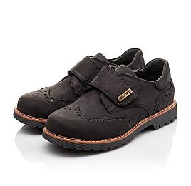 Детские туфли Woopy Orthopedic черные для мальчиков натуральный нубук размер - (3079) Фото 3