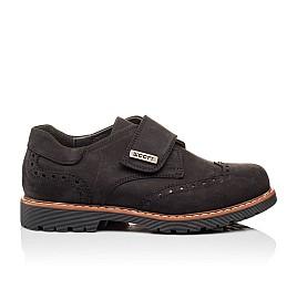 Детские туфли Woopy Orthopedic черные для мальчиков натуральный нубук размер - (3079) Фото 4