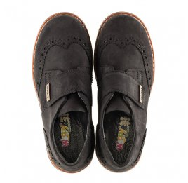 Детские туфли Woopy Orthopedic черные для мальчиков натуральный нубук размер - (3079) Фото 5