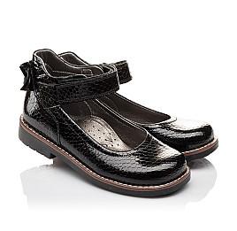 Детские туфли ортопедические Woopy Orthopedic черные для девочек натуральная лаковая кожа размер - (3080) Фото 1