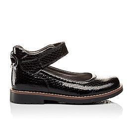 Детские туфли ортопедические Woopy Orthopedic черные для девочек натуральная лаковая кожа размер - (3080) Фото 3