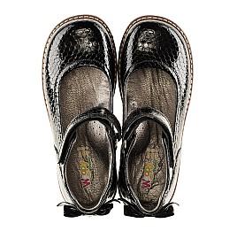 Детские туфли ортопедические Woopy Orthopedic черные для девочек натуральная лаковая кожа размер - (3080) Фото 4