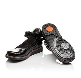 Детские туфли ортопедические Woopy Orthopedic черные для девочек натуральная лаковая кожа размер - (3080) Фото 5