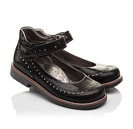 Детские туфли ортопедические Woopy Orthopedic черные для девочек натуральная кожа размер - (3081) Фото 1