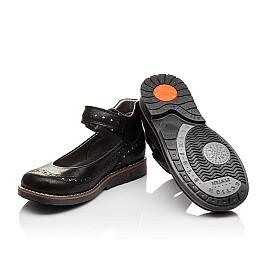 Детские туфли ортопедические Woopy Orthopedic черные для девочек натуральная кожа размер - (3081) Фото 2