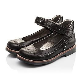 Детские туфли ортопедические Woopy Orthopedic черные для девочек натуральная кожа размер - (3081) Фото 3