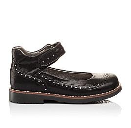 Детские туфли ортопедические Woopy Orthopedic черные для девочек натуральная кожа размер - (3081) Фото 4