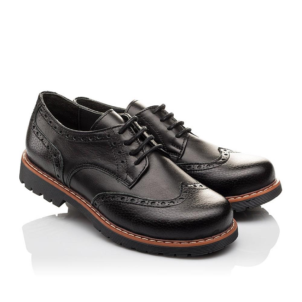 Детские туфлі (гумові шнурки) Woopy Orthopedic чорні для мальчиков натуральна шкіра размер 31-39 (3082) Фото 1