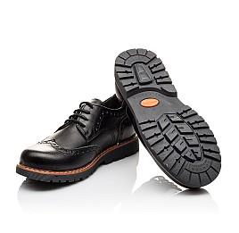 Детские туфли (резиновые шнурки) Woopy Orthopedic черные для мальчиков натуральная кожа размер 31-39 (3082) Фото 2