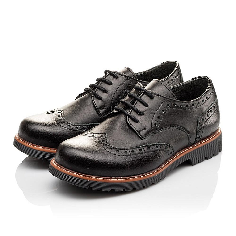Детские туфлі (гумові шнурки) Woopy Orthopedic чорні для мальчиков натуральна шкіра размер 31-39 (3082) Фото 3