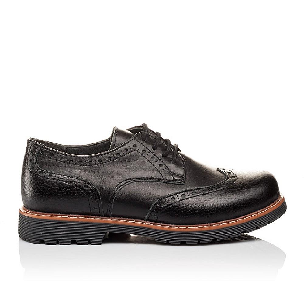 Детские туфлі (гумові шнурки) Woopy Orthopedic чорні для мальчиков натуральна шкіра размер 31-39 (3082) Фото 4