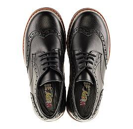 Детские туфли (резиновые шнурки) Woopy Orthopedic черные для мальчиков натуральная кожа размер 31-39 (3082) Фото 5