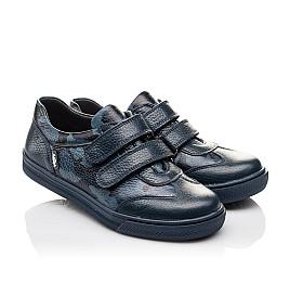 Детские туфли спортивные Woopy Orthopedic синие для мальчиков натуральная кожа размер - (3083) Фото 1