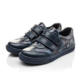 Детские туфли спортивные Woopy Orthopedic синие для мальчиков натуральная кожа размер - (3083) Фото 3