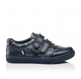 Детские туфли спортивные Woopy Orthopedic синие для мальчиков натуральная кожа размер - (3083) Фото 4