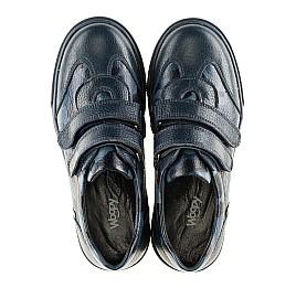 Детские туфли спортивные Woopy Orthopedic синие для мальчиков натуральная кожа размер - (3083) Фото 5