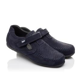 Детские туфли Woopy Orthopedic темно-синие для мальчиков натуральный нубук размер - (3084) Фото 1