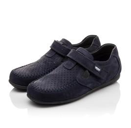 Детские туфли Woopy Orthopedic темно-синие для мальчиков натуральный нубук размер - (3084) Фото 3