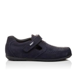 Детские туфли Woopy Orthopedic темно-синие для мальчиков натуральный нубук размер - (3084) Фото 4