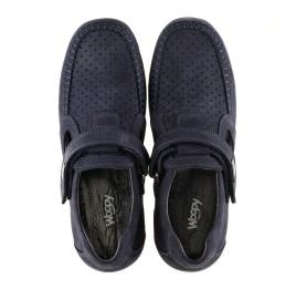 Детские туфли Woopy Orthopedic темно-синие для мальчиков натуральный нубук размер - (3084) Фото 5