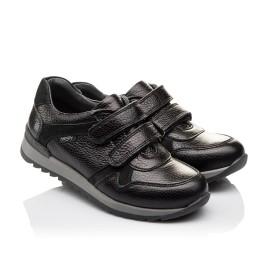 Детские кроссовки Woopy Orthopedic черные для мальчиков натуральная кожа размер 35-39 (3088) Фото 1