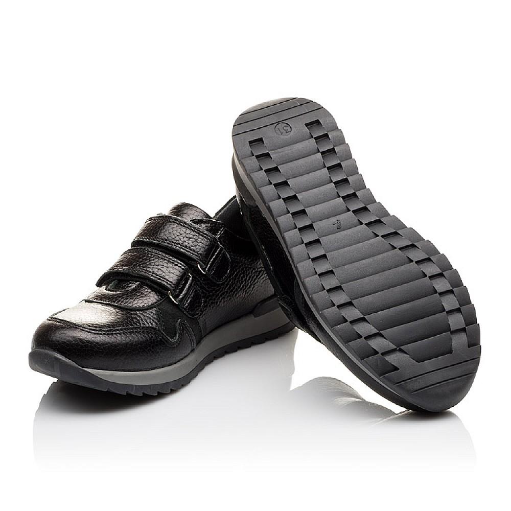 Детские кроссовки Woopy Orthopedic черные для мальчиков натуральная кожа размер 30-39 (3088) Фото 2